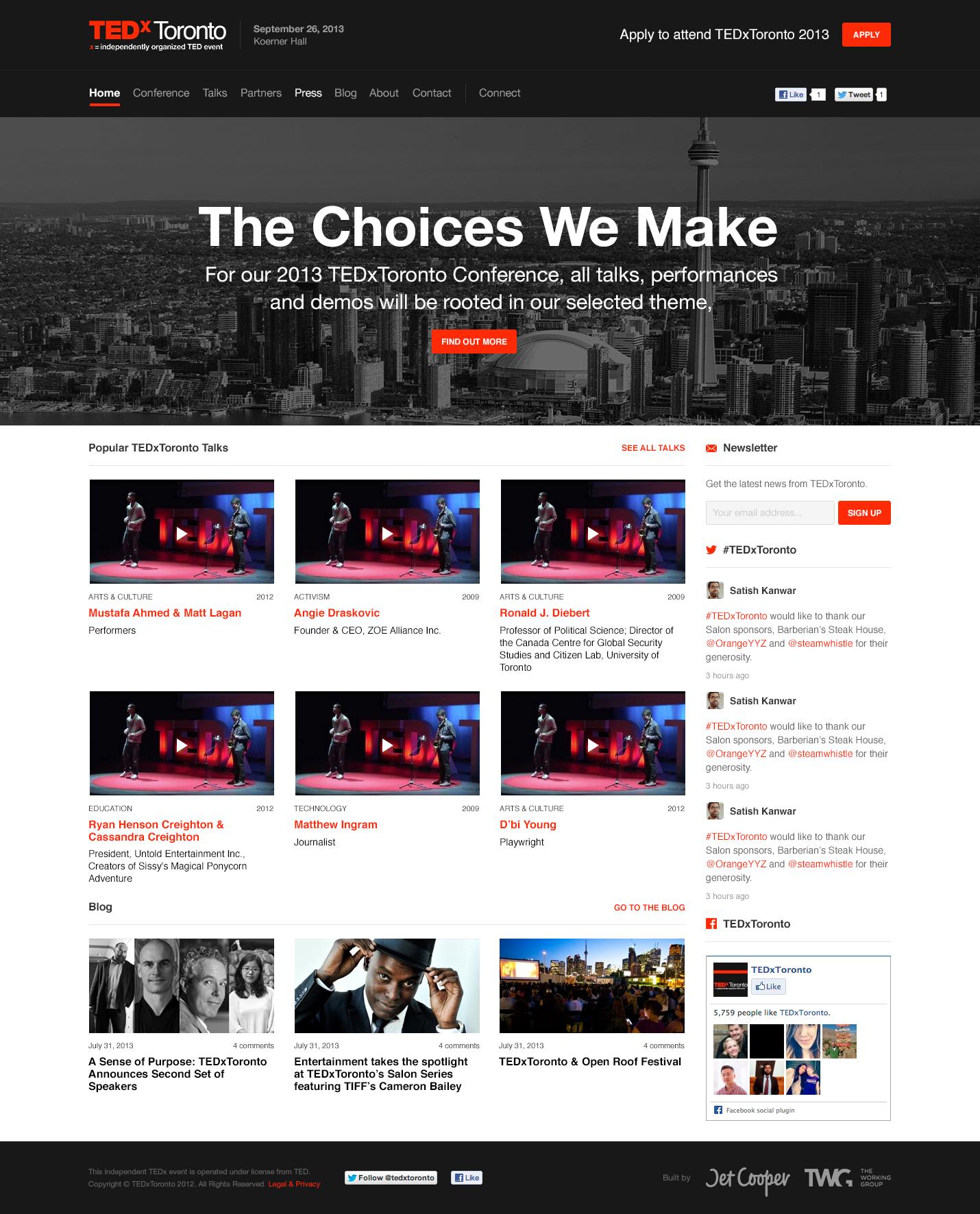 TEDxToronto Homepage